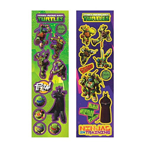 Teenage Mutant Ninja Turtles Sticker Sheets, 8 Count, Party Supplies