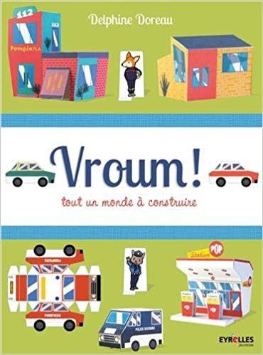 Paper Houses  print, Cut, Fold and Glue for Advent or a darling village the works of illustrator Delphine Doreau provides hours of family fun with these houses and boos for cars  and villages to build