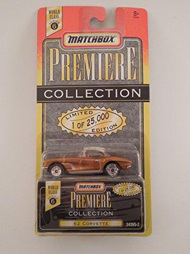 Matchbox Premiere Collection '62 Corvette Die Cast Limited Edition Car Gold color Rare Series 6