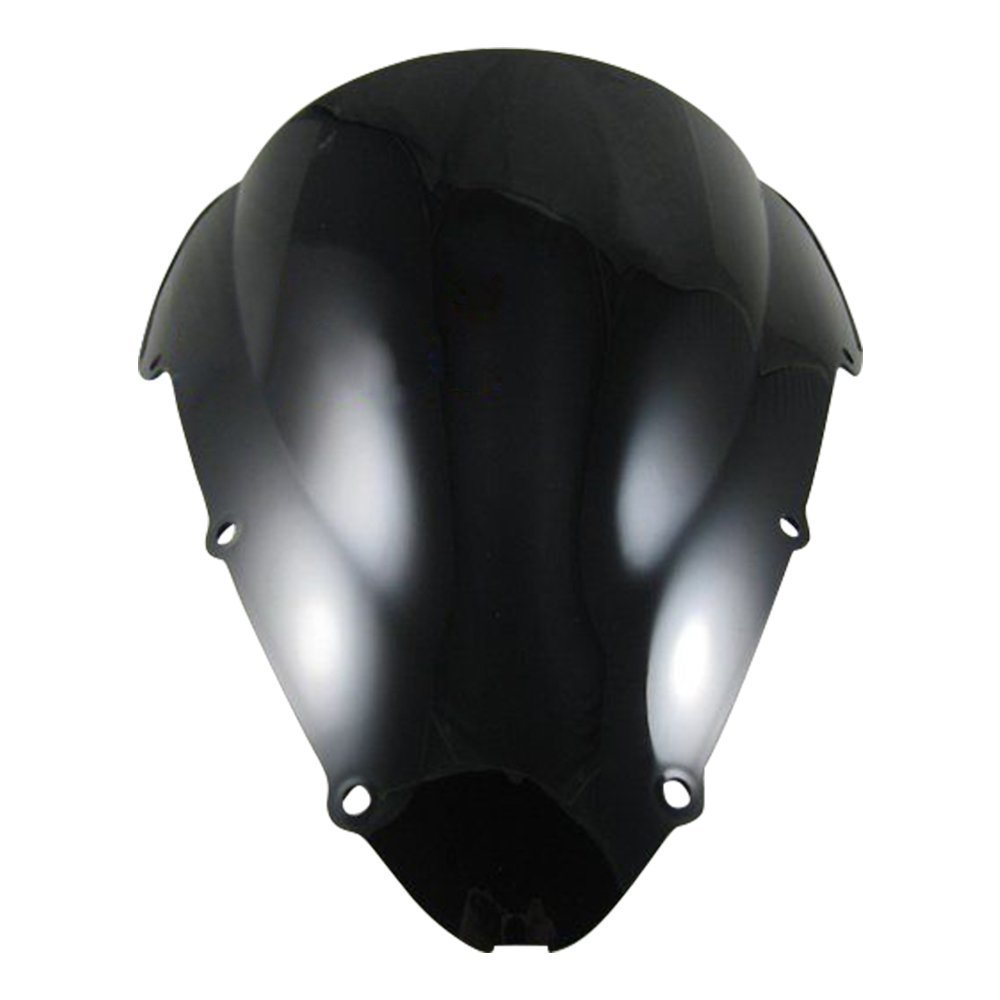 NEVERLAND Double Bubble Windscreen Windshield for Honda CBR 600 F4i 2001 2002 2003 2004 2005 2006 2007 ABS Black