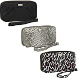Travelon RFID-Blocking Womens Travel Zip Wallet Purse Wristlet with Strap