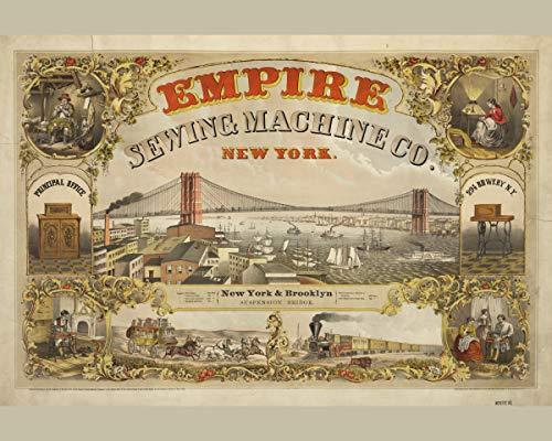 ClassicPix Photo Print 24x30: Empire Sewing Machine Co, New York, 1870