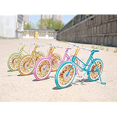Youngyang Handmade aluminum art bike,Computer desk,desk Decoration,The mountain bike ornaments,Home Furnishing decoration crafts (Multiple color options) (the green)