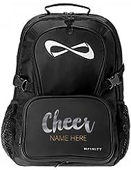 Metallic Custom Cheer Backpack: Nfinity Black Backpack Bag