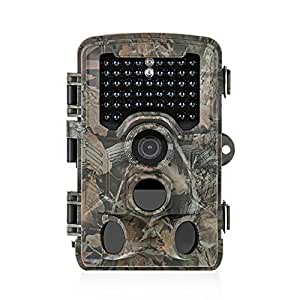 Distianert Trail Camera 12MP 1080P ( Photo up to 16MP) Wildlife Game Camera Low Glow with 0.6S Trigger Time 80 FT Detection Range 120°Range & 47 Pcs IR LEDs for Wildlife Monitoring