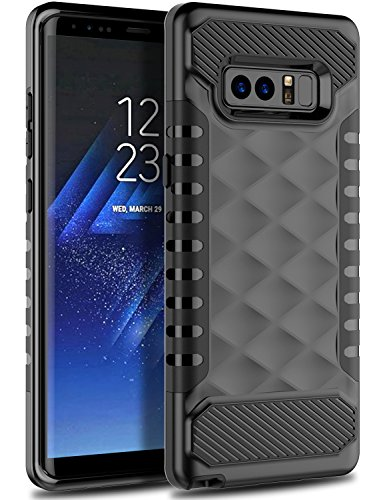 Galaxy Note 8 Case, Samsung Note 8 Case 2017 OTOONE [Geometric Serise] Slim Dual Layer Scratch Resistant Rubber Silicone Protective Armor Case Cover for Note 8 2017 Released