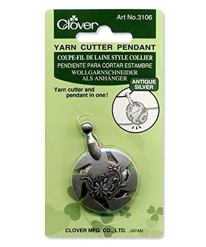 Clover 3106 Yarn Cutter Pendant, Antique Silver