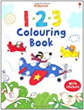 123 Colouring Book with Stickers (Usborne First Colouring Books)