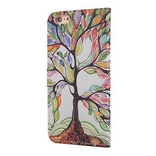 MOONCASE iPhone 6 Case Printing Series Leder Tasche Flip Schutzhülle Etui Case Cover Hülle Schale für Apple iPhone 6 / 6S (4.7 inch) XC05