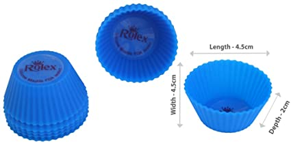 Rolex Silicon Mould Muffin Cup Cake set of 10 Small
