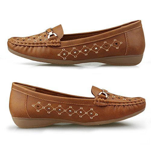 Shoes Loafer Comfort Slip brown 1953 on Driving Hawkwell Women's SwCxqFTFY