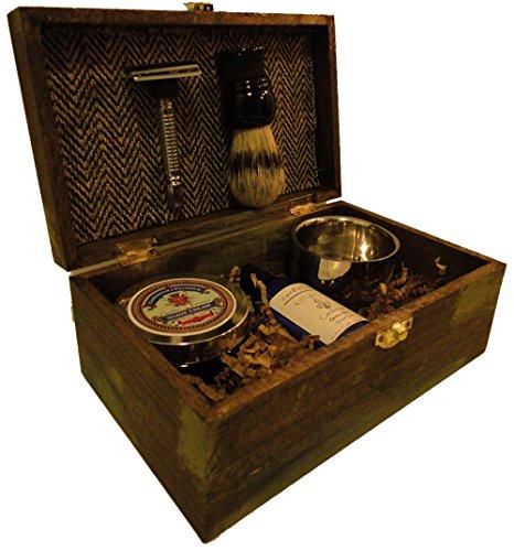 vintage shave kit groomsmen gift vintage rustic wedding. Black Bedroom Furniture Sets. Home Design Ideas