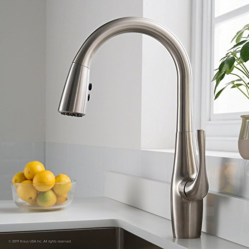 Kraus KPF-1670SFS Esina Single Handle Pull Down Kitchen Faucet with Dual Function Sprayhead in All-Brite Spot Free Finish, Stainless Steel