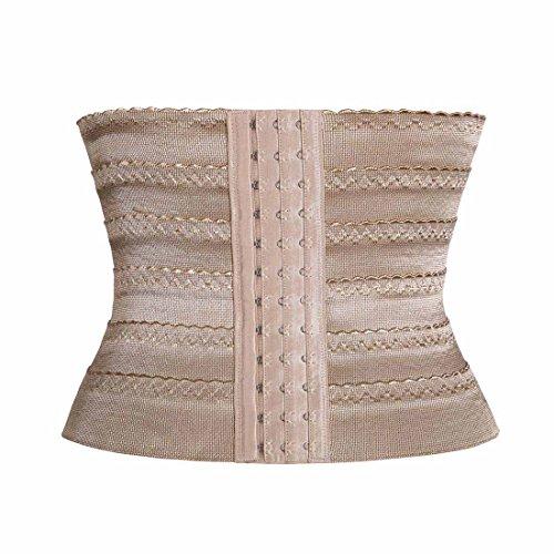 Beauty_Outlet Women Breathable Waist Tummy Training Shaper Corset Belt (L(Inch 29--32), 1010-Beige)