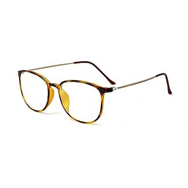 56dd1c830ca46 Embryform Montura para Gafas de Vista Hombre y Mujer Antiguas Grandes  Vintage Visión Clara Glasses Cristal Lente Transparente  Amazon.es  Ropa y  accesorios