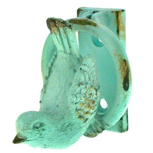 BIRD DOOR KNOCKER ANTIQUE BLUE 2.25x2.06255x2.5