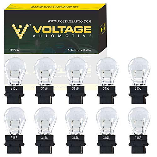 (10 Pack) 3156 Bulb for Brake Light Turn Signal Side Marker Tail Light Miniature Bulb - Voltage Automotive - Standard Replacement