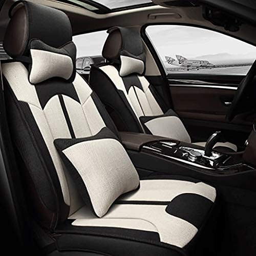 (Gaoye Car Seat Cushion, 4 Seasons Universal Five-seat Universal All-Purpose Synthetic Fiber Material, Available in A Variety of Colors (Color : Light Beige))