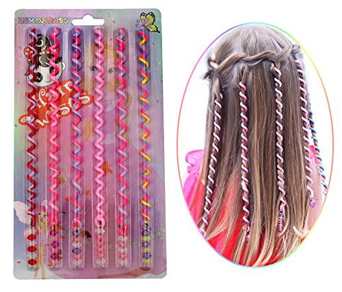 [LEMONBABY Funny Party Costume Hair Twists Accessories Hair Wrap (PINK)] (Halloween Costumes With Pink Hair)