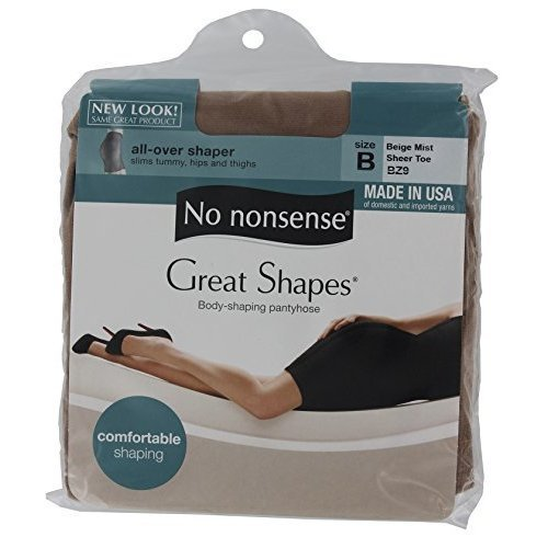 700585c60 Image Unavailable. Image not available for. Color  No Nonsense Great Shapes  Body Shaping Pantyhose Size B