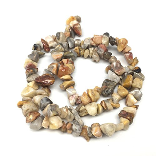 (Top Quality Natural Crazy Lace Agate Gemstones Smooth Chips Beads Free-Form Loose Beads ~8x5mm Beads (~34 inch))
