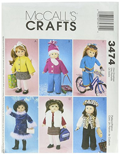 (McCall's Patterns M3474 18-Inch Doll Clothes, One Size Only)