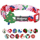 Blueberry Pet 14 Patterns Christmas Holiday Excellence Secret Garden Baby Pink Designer Dog Collar, Small, Neck 12''-16'', Adjustable Collars Dogs