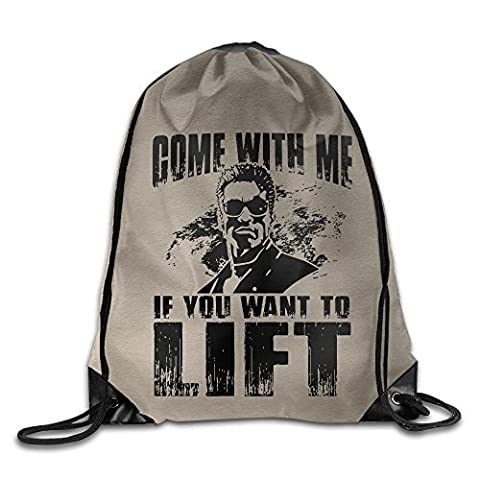 SAXON13 Unisex Fashion Come With Me If You Want To Lift Drawstring Bag (Donna Come Me)