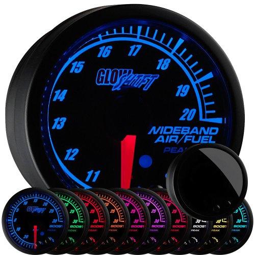 Series Fuel Gauge (GlowShift Elite 10 Series Wideband Air/Fuel Ratio Gauge with Oxygen Sensor & Data Logging Controller)