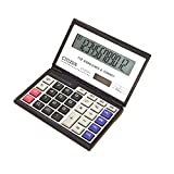 Studyset Calculator Financial 12 Digits Solar Battery Portable Foldable Desktop Calculator Office Supplies