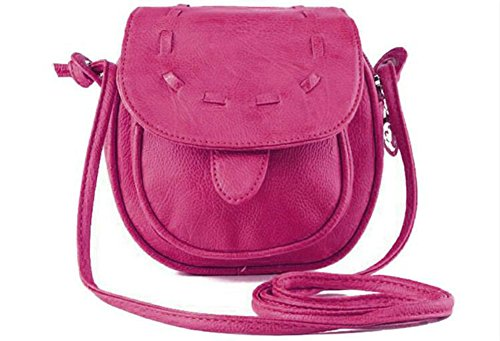 Women Saddle Mini Woven Women Bags Crossbody pink Mini rq7Xxr