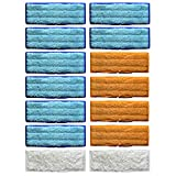 12 Packs Washable Mopping Pads for iRobot Braava Jet 240 241 Blue 6 Orange 4 White 2