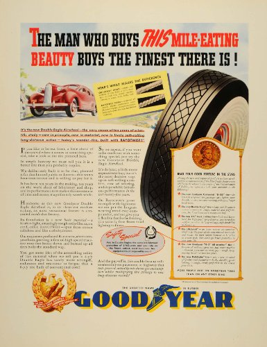 1939-ad-goodyear-tires-wheels-cars-driving-whitewall-original-print-ad