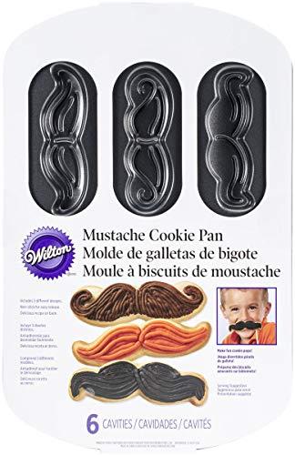 Wilton 2105-2698 Mustache 6-Cavity Cookie Pan