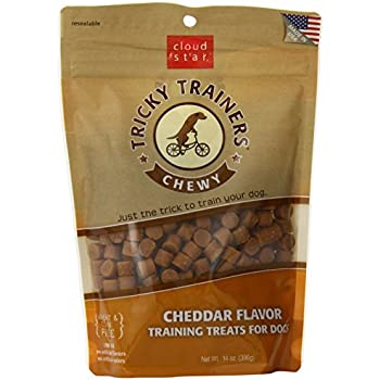 Cloud Star Chewy Tricky Trainers, Cheddar Flavor, 14-Ounce Pouches (Pack of 2)