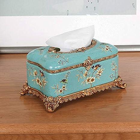 nanih Home Caja de pañuelos Creativa clásica Europea decoración Cajón de la Sala de casa Decoración