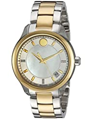 Movado Womens 0606979 Analog Display Swiss Quartz Two Tone Watch