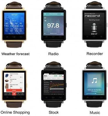 N º 1 D6 3G Smart Watch - 1,63 pulgadas pantalla, 5.1 Android, GPS ...