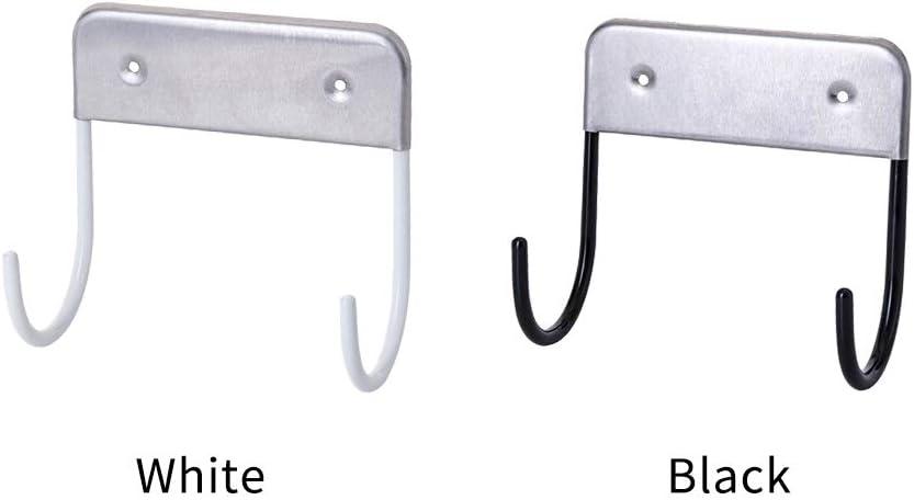 Ironing Board Hanger, Wall Mount Ironing Board Hook, Stainless Steel Hanging Closet Home Holder Iron Storage Solution Black