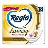 Papel Higiénico, Regio Luxury Almond Touch, Hojas Dobles, 18 Rollos
