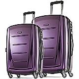"Samsonite Winfield 2 Fashion Two-Piece Spinner Set (20""/28""), Purple"