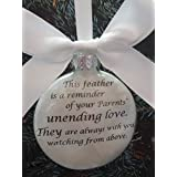 Loss of Parents Memorial - This Feather is a Reminder - In Memory Christmas Ornament - Personalized Keepsake Sympathy Gift