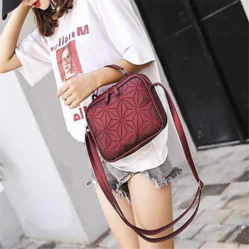Geometrica Diamante Colore borsa Donna Semplice Moda A Fannb Vino Luminoso tracolla Rosso Donna borsa Casual Tracolla Wg4BwnY