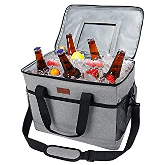 Fansteck 30L (50-Can) Cooler Bag, Large Insulated Picnic Cool Bags, Leakproof & portable, Cool Box for Drinks, Wine… 10