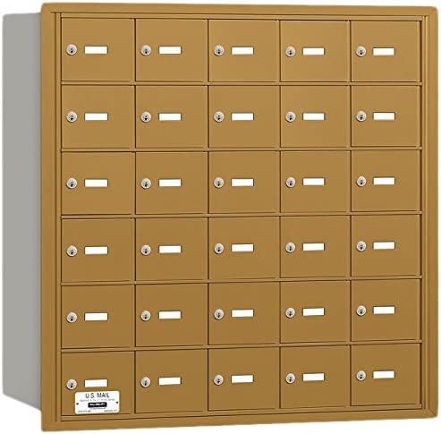 30 A Doors Private Access Gold Salsbury Industries 3630GRP 4B Plus Horizontal Mailbox Rear Loading