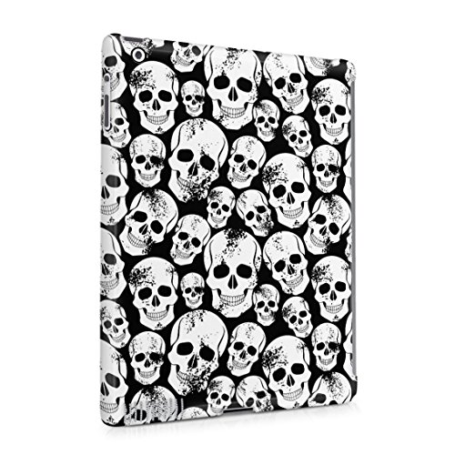 Grunge Gothic Skeleton Punk Rock Mini Skulls Pattern Plastic Tablet Snap On Back Case Cover Shell For iPad 2 & iPad 3 & iPad 4