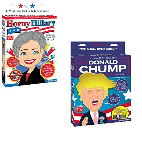 Love Dolls Horny Hillary and Donald Chump by Pipedream Products