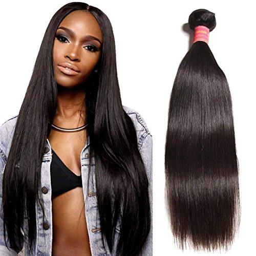 "Donmily 10A Brazilian Straight Human Hair 1 Bundle 100% Remy Virgin Hair Weave Bundles Natural Black 8""-30"" Inch (18 inch) free shipping"