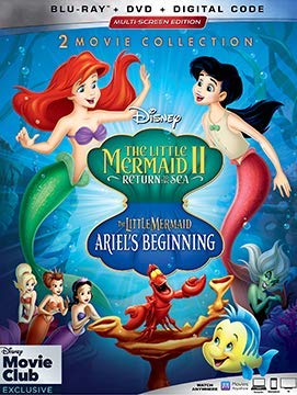 The Little Mermaid II + Ariel's Beginning 2-Movie Collection (Blu-ray + DVD + Digital Code) (The Little Mermaid Two Return To The Sea)