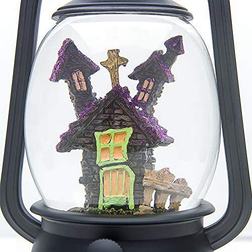 Amazon Com Evelyne Gmt 10334 A The Haunted House Halloween Snow Globe Led Lighted Halloween Lantern Battery Operated Swirling Water Glitter Globe For Halloween Home Decor Home Kitchen